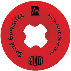 Ricta David Gonzalez Pro NRG - Red - 53mm 81b - Skateboard Wheels (Set of 4)