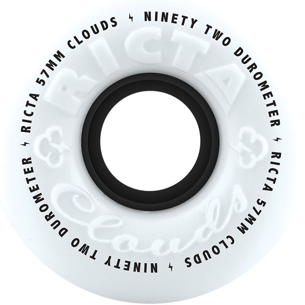 Ricta Clouds - Black - 57mm 92a - Skateboard Wheels (Set of 4)