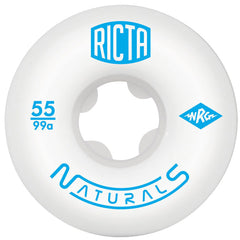 Ricta Naturals - White - 55mm 99a - Skateboard Wheels (Set of 4)