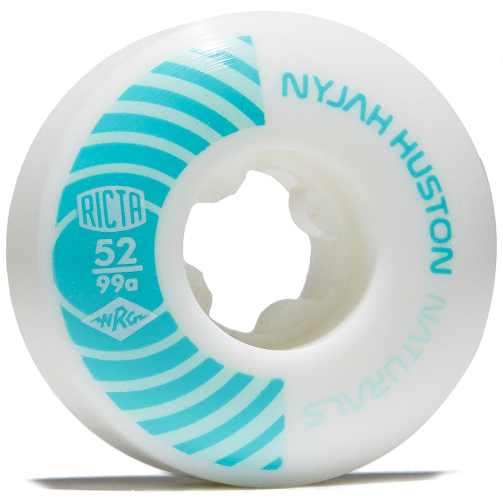 Ricta Nyjah Pro Naturals - White/Teal - 52mm 99a - Skateboard Wheels (Set of 4)