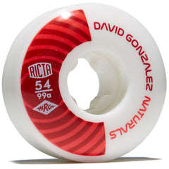 Ricta Gonzalez Pro Naturals - White/Red - 54mm 99a - Skateboard Wheels (Set of 4)