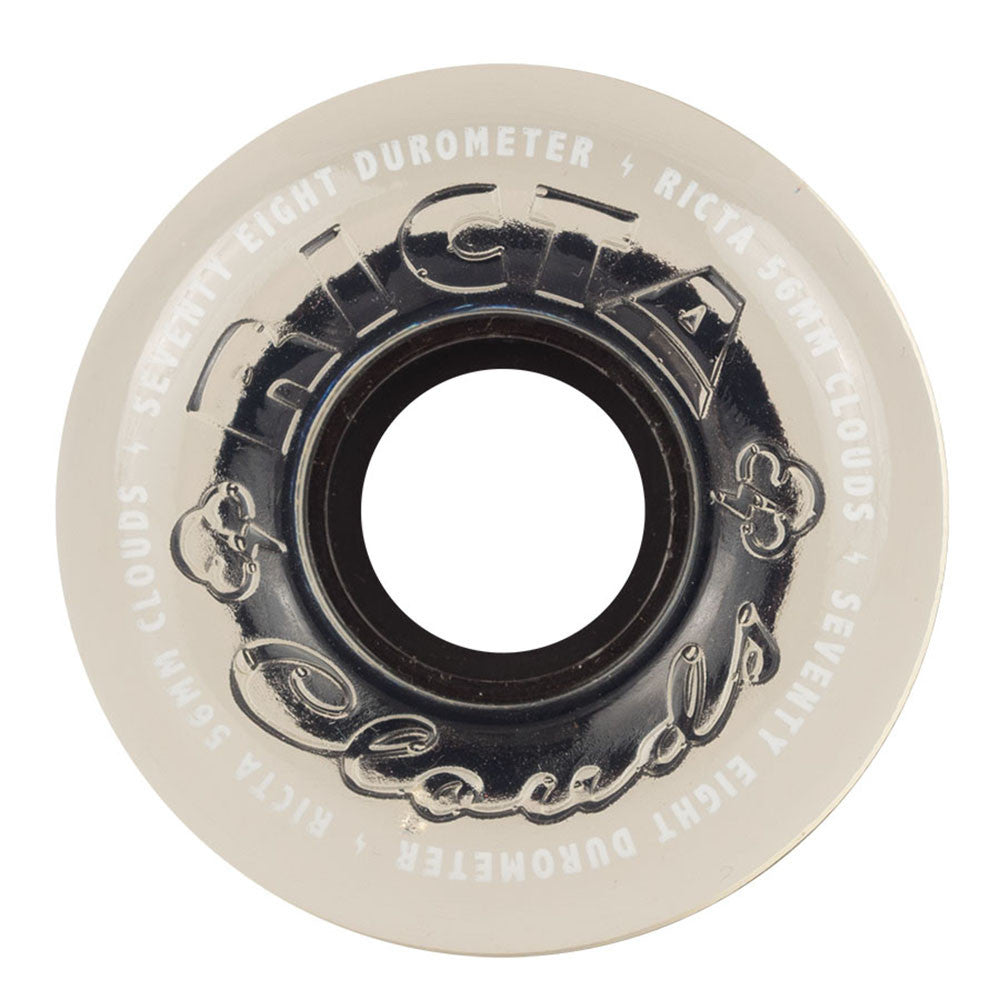 Ricta Crystal Clouds - Clear - 56mm 78a - Skateboard Wheels (Set of 4)