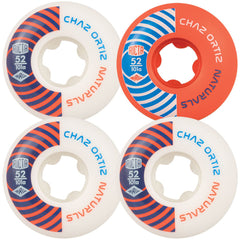 Ricta Ortiz Pro Naturals - White/Orange - 52mm 101a - Skateboard Wheels (Set of 4)