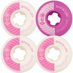 Ricta Loy Pro Naturals - White/Pink - 53mm 101a - Skateboard Wheels (Set of 4)