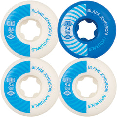 Ricta Johnson Pro Naturals - White/Blue - 54mm 101a - Skateboard Wheels (Set of 4)