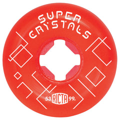Ricta Super Crystals - Red - 53mm 99a - Skateboard Wheels (Set of 4)