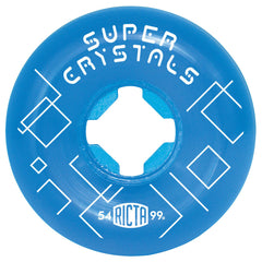 Ricta Super Crystals - Blue - 54mm 99a - Skateboard Wheels (Set of 4)