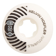 Ricta Kelvin Hoefler Pro Naturals - White/Black - 52mm 99a - Skateboard Wheels (Set of 4)