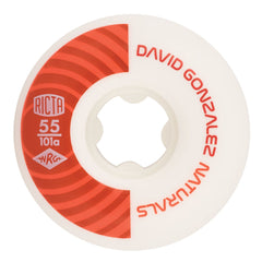 Ricta David Gonzalez Pro Naturals - White/Red - 55mm 101a - Skateboard Wheels (Set of 4)