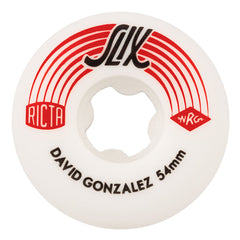 Ricta David Gonzalez Pro Slix - White/Red - 54mm 99a - Skateboard Wheels (Set of 4)