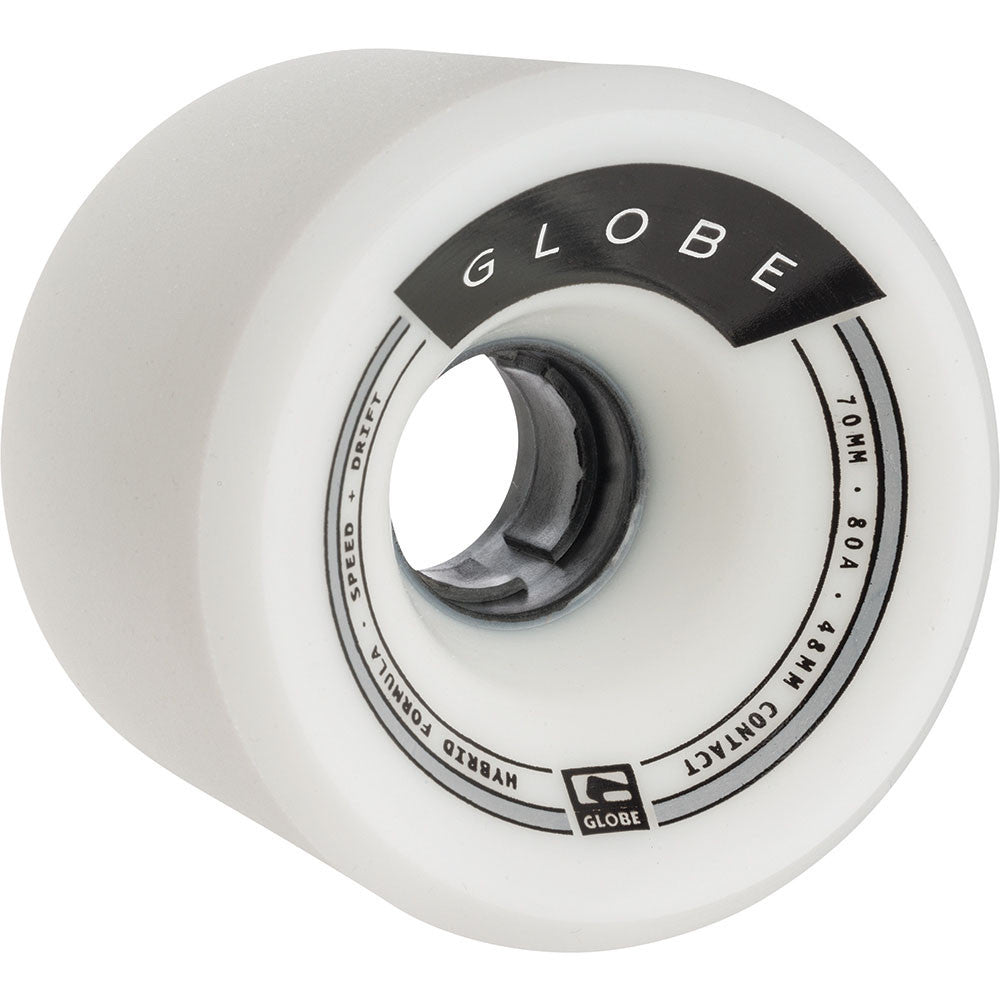 Globe Trooper - White - 70mm - Skateboard Wheels (Set of 4)