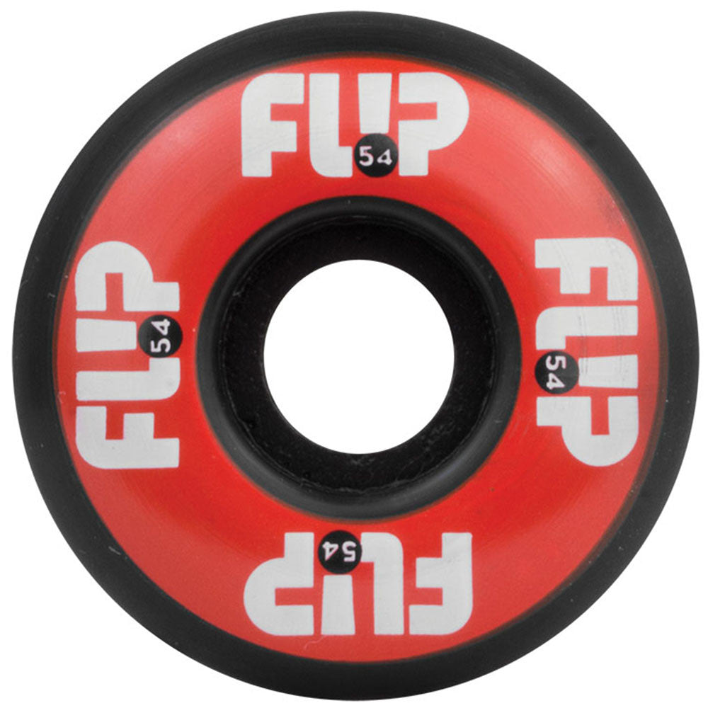Flip Odyssey Logo - Red/Black - 54mm 99a - Skateboard Wheels (Set of 4)