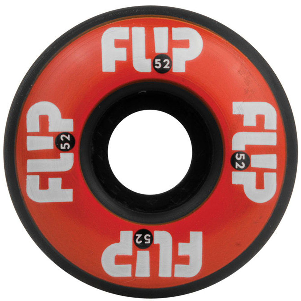 Flip Odyssey Logo - Red/Black - 52mm 99a - Skateboard Wheels (Set of 4)