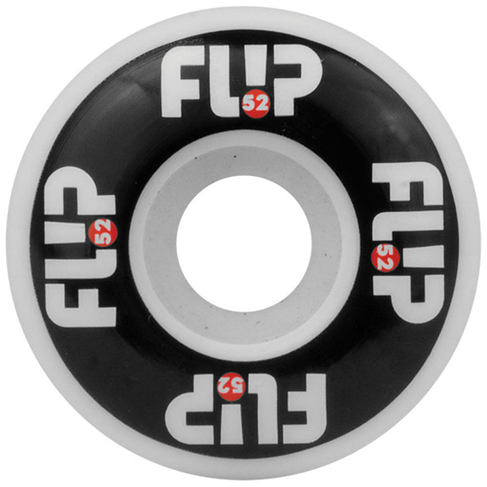 Flip Odyssey Logo - Black/White - 52mm 99a - Skateboard Wheels (Set of 4)
