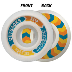 Flip Cutback - White - 51mm 99a - Skateboard Wheels (Set of 4)