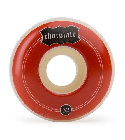 Chocolate Crest - White - 52mm - Skateboard Wheels (Set of 4)