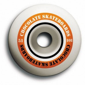 Chocolate Finish Line Hard - White - 51mm - Skateboard Wheels (Set of 4)