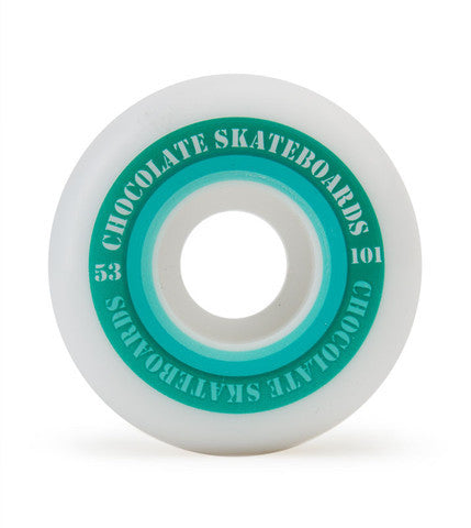Chocolate Finish Line Hard - White - 53mm - Skateboard Wheels (Set of 4)