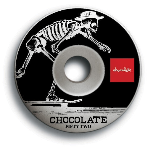 Chocolate El Chocolate - White - 52mm - Skateboard Wheels (Set of 4)