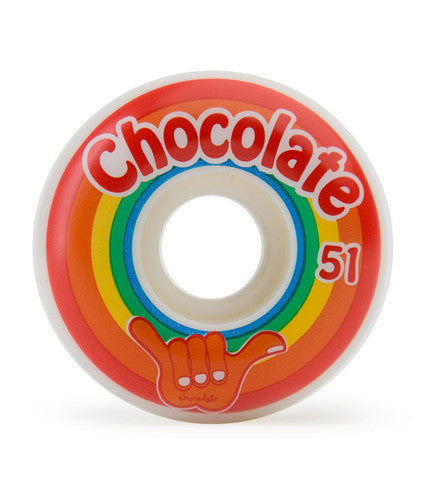 Chocolate Hang Loose - White - 51mm - Skateboard Wheels (Set of 4)