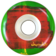Chocolate Subtle Square - Green/Red - 53mm - Skateboard Wheels (Set of 4)