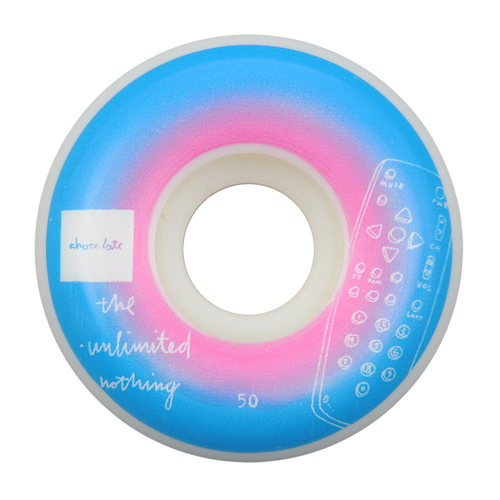 Chocolate Sketch Fade - Blue/Pink - 50mm - Skateboard Wheels (Set of 4)