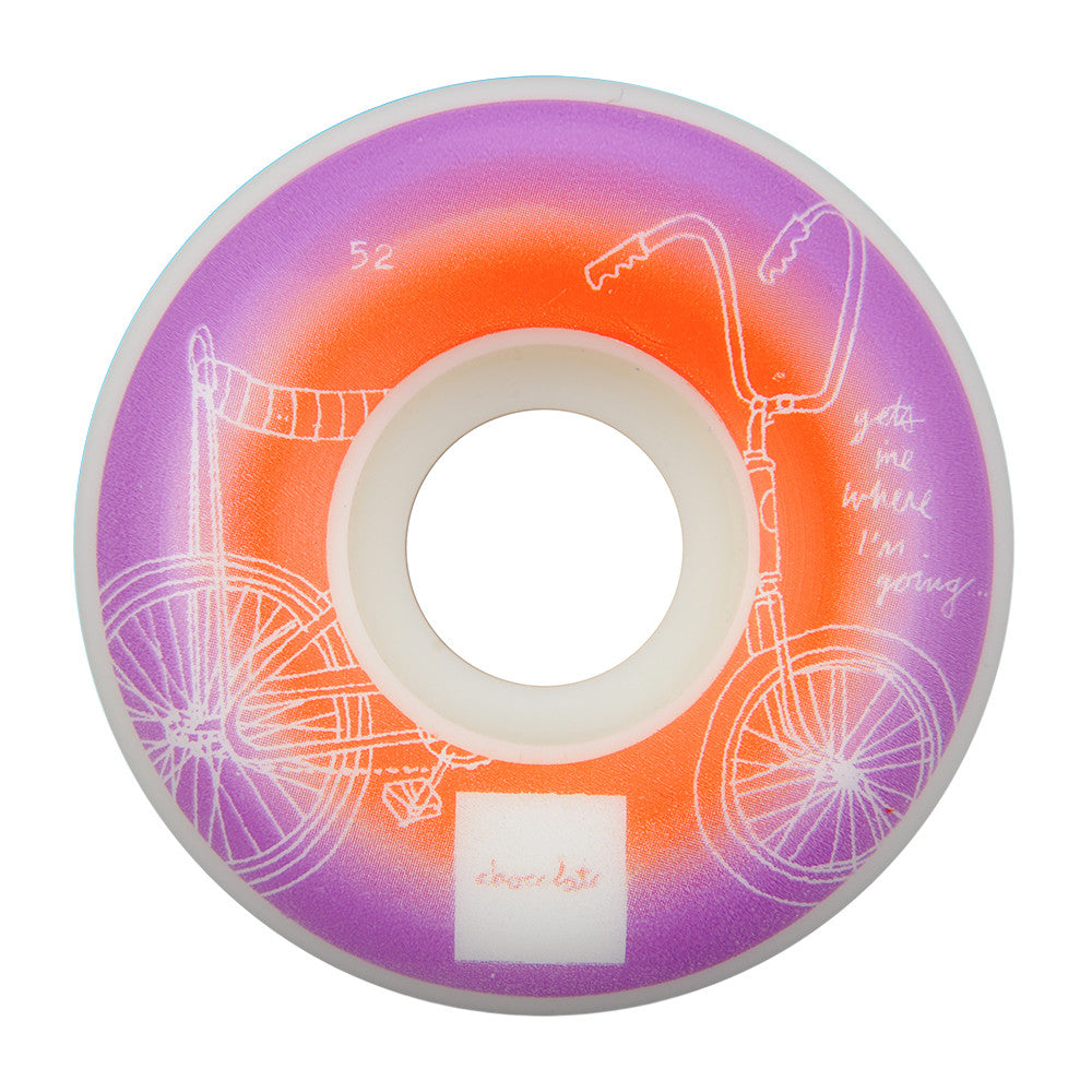 Chocolate Sketch Fade - Purple/Orange - 52mm - Skateboard Wheels (Set of 4)