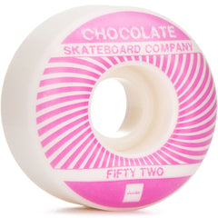 Chocolate RPM - Pink/White - 52mm - Skateboard Wheels (Set of 4)