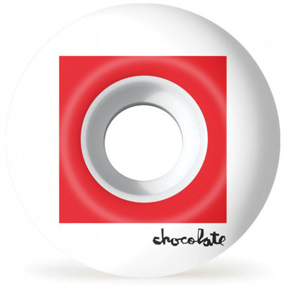 Chocolate Off Square - White - 52mm - Skateboard Wheels (Set of 4)