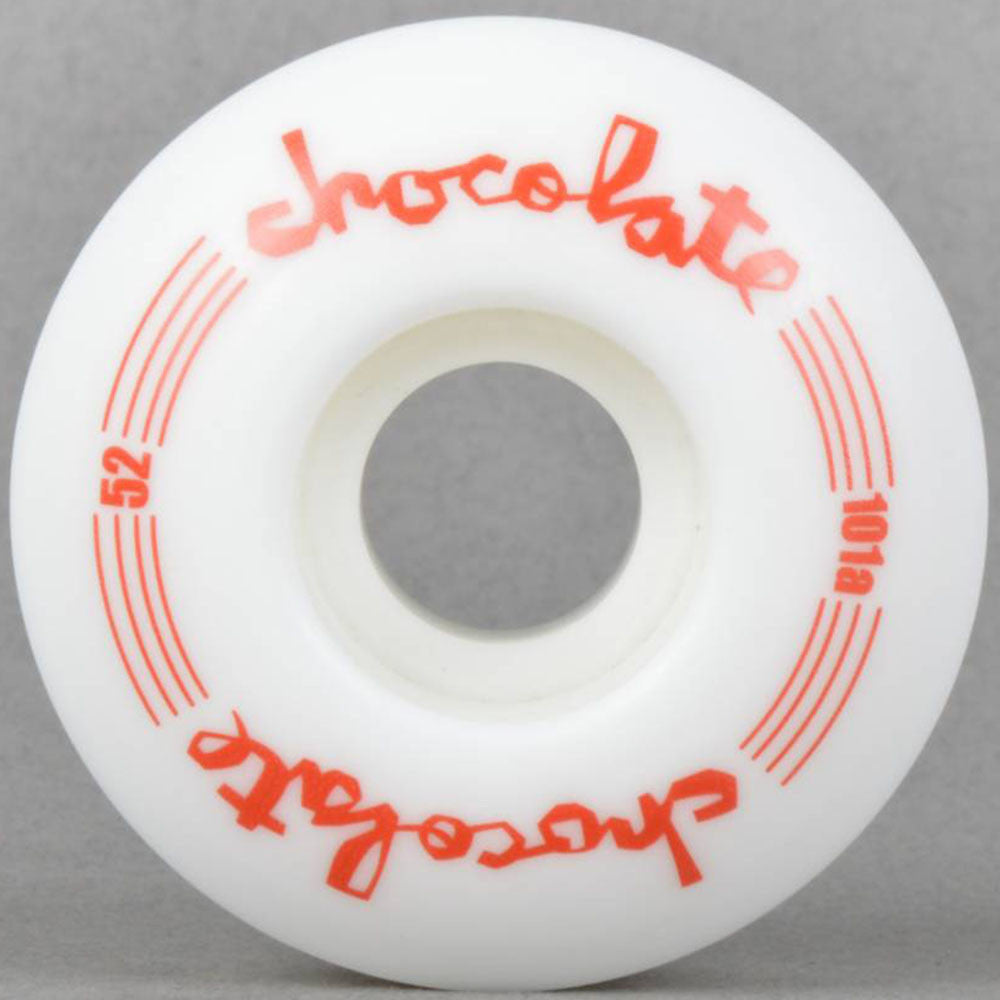Chocolate Chunk Classic - White - 52mm - Skateboard Wheels (Set of 4)