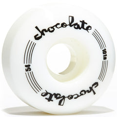 Chocolate Chunk Classic - White - 54mm - Skateboard Wheels (Set of 4)