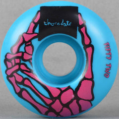 Chocolate Skeleton Hand - Blue - 52mm - Skateboard Wheels (Set of 4)