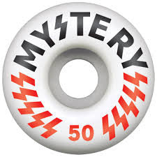 Mystery Victory - White - 50mm - Skateboard Wheels (Set of 4)