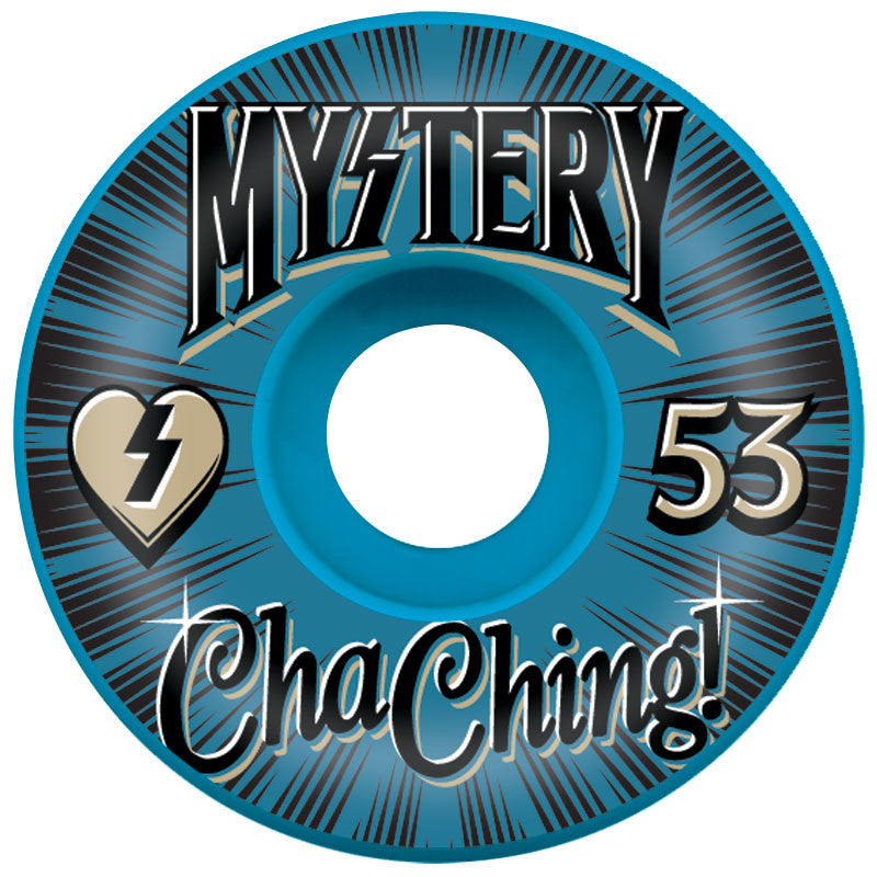 Mystery ChaChing - Blue - 53mm - Skateboard Wheel (Set of 4)