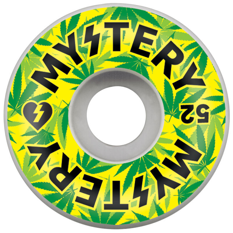 Mystery Varsity Weed - White - 52mm - Skateboard Wheel (Set of 4)