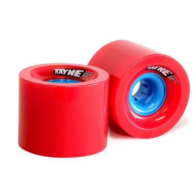 Rayne Lust Series - Red/Blue Core - 70mm 77a - Skateboard Wheels (Set of 4)
