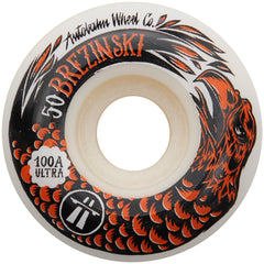 Autobahn Brezinski Swanski Collaboration - White - 50mm 100a - Skateboard Wheels (Set of 4)