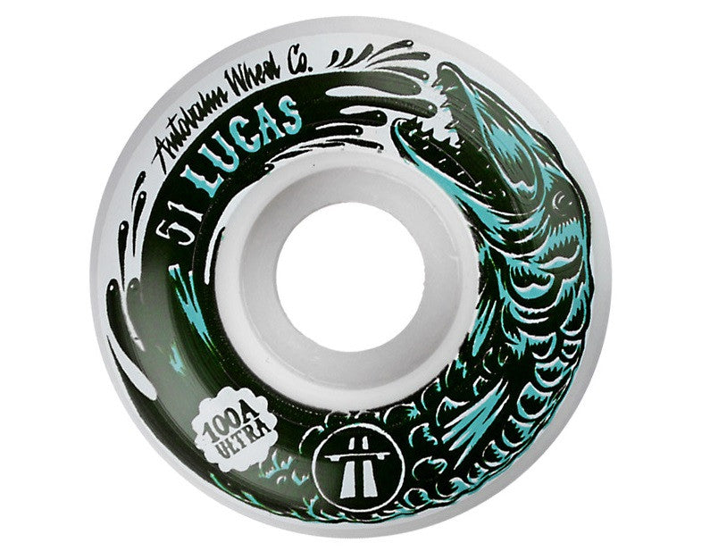 Autobahn Puig Ultra Light - White - 51mm 100a - Skateboard Wheels (Set of 4)