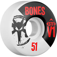 Bones Street Tech Formula Skinny - White - 51mm 83b - Skateboard Wheels (Set of 4)