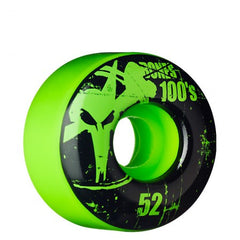 Bones O.G. Formula 100 V1 - Green - 52mm - Skateboard Wheels (Set of 4)
