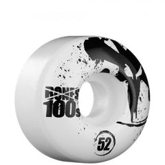 Bones O.G. Formula 100 V1 - White - 52mm - Skateboard Wheels (Set of 4)