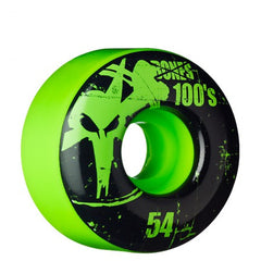 Bones O.G. Formula 100 V1 - Green - 54mm - Skateboard Wheels (Set of 4)