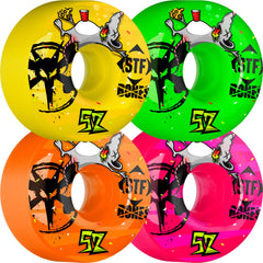 Bones STF Party Pack - Assorted - 52mm 83b - Skateboard Wheels (Set of 4)