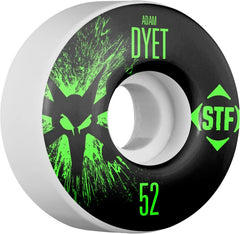 Bones STF V3 Pro Dyet Team Splat - White - 52mm 83b - Skateboard Wheels (Set of 4)