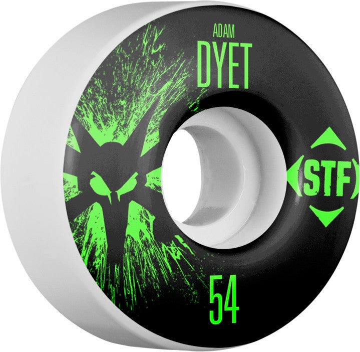 Bones STF V3 Pro Dyet Team Splat - White - 54mm 83b - Skateboard Wheels (Set of 4)