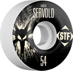 Bones STF V1 Pro Servold Team Splat - White - 54mm 83b - Skateboard Wheels (Set of 4)