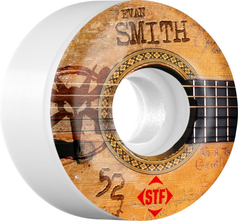 Bones STF V1 Pro Smith Strummer - White - 52mm 83b - Skateboard Wheels (Set of 4)