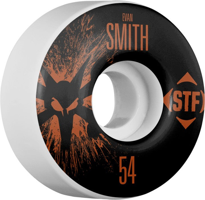 Bones STF V1 Pro Smith Team Splat - White - 54mm 83b - Skateboard Wheels (Set of 4)