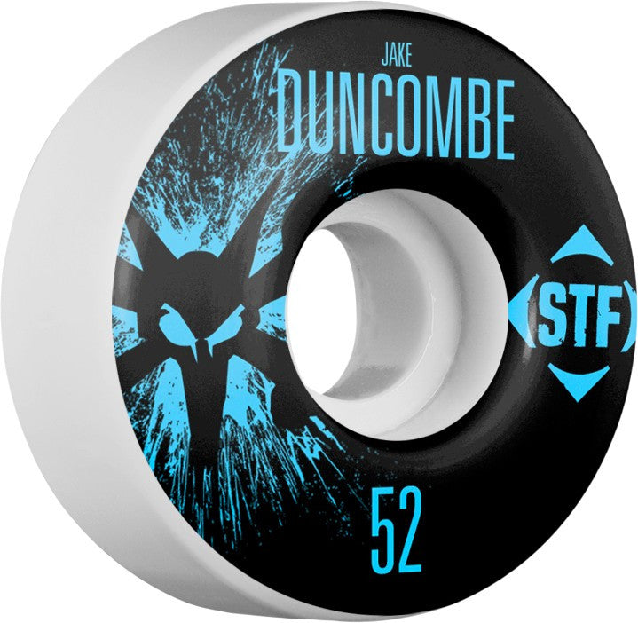 Bones STF V3 Pro Duncombe Team Splat - White - 52mm 83b - Skateboard Wheels (Set of 4)