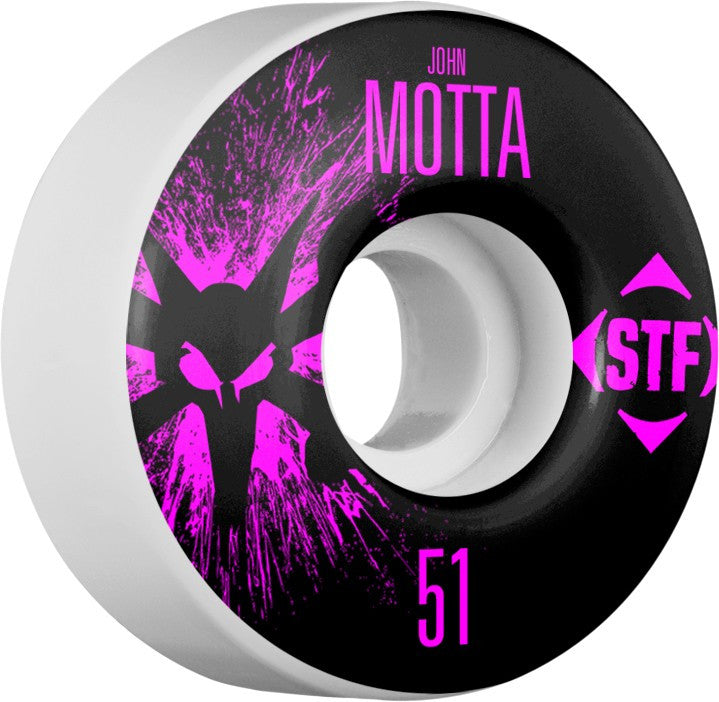 Bones STF V2 Pro Motta Team Splat - White - 51mm 83b - Skateboard Wheels (Set of 4)